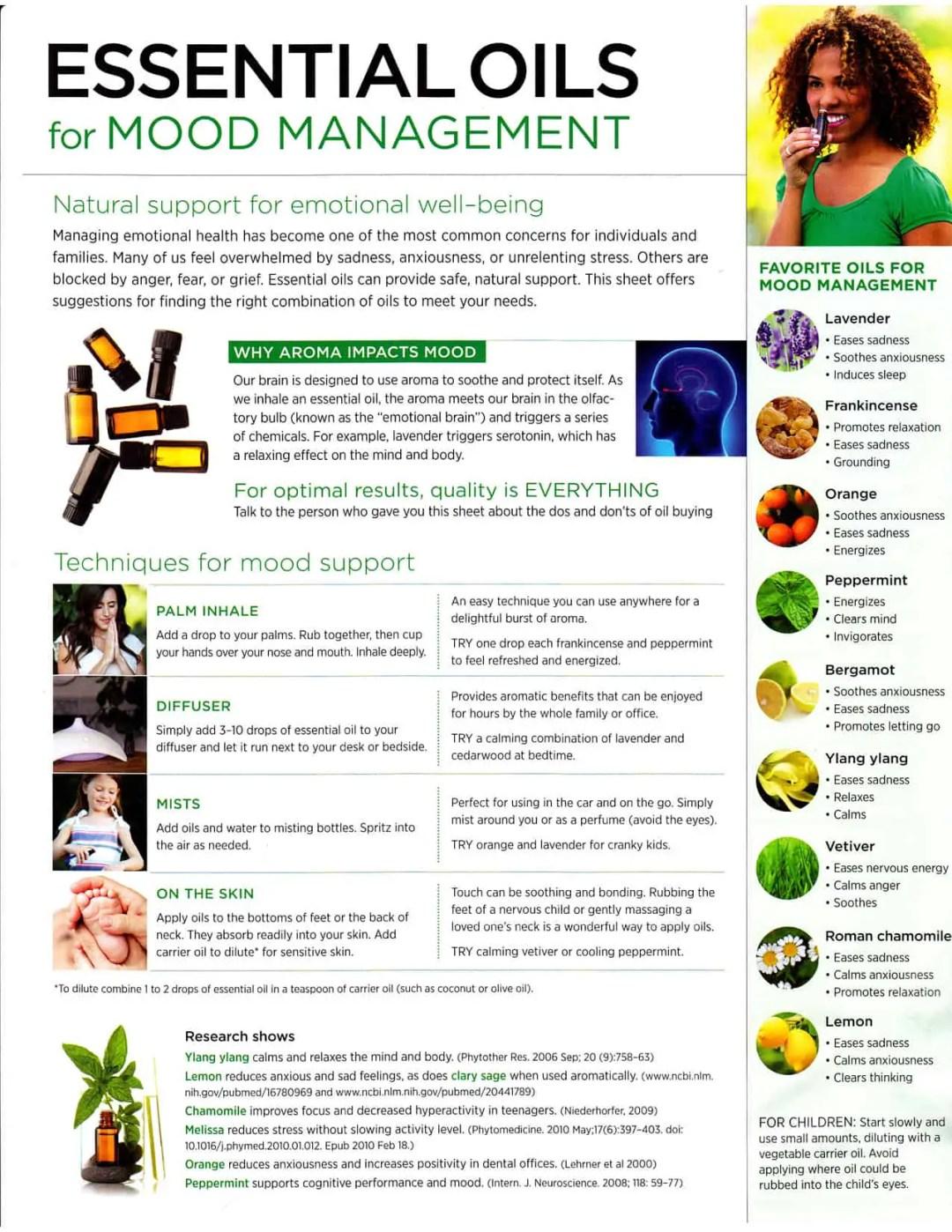Essential Oils for Mood Management