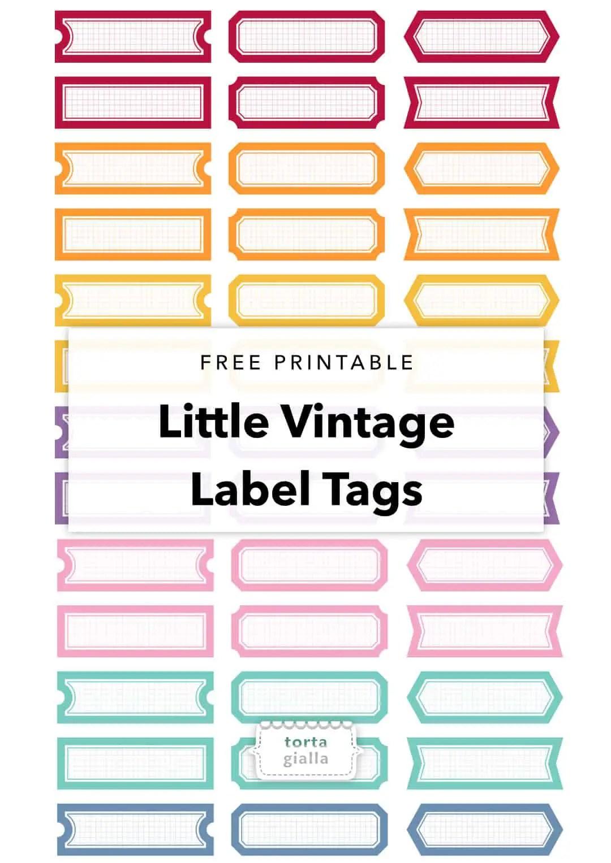 Free Printable Little Vintage Label Tags