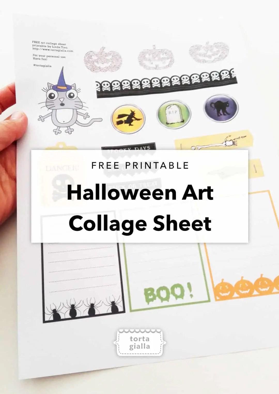 FREE halloween art collage printable