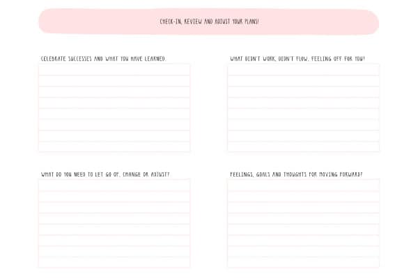 check-in review printable