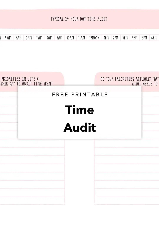 free printable time audit