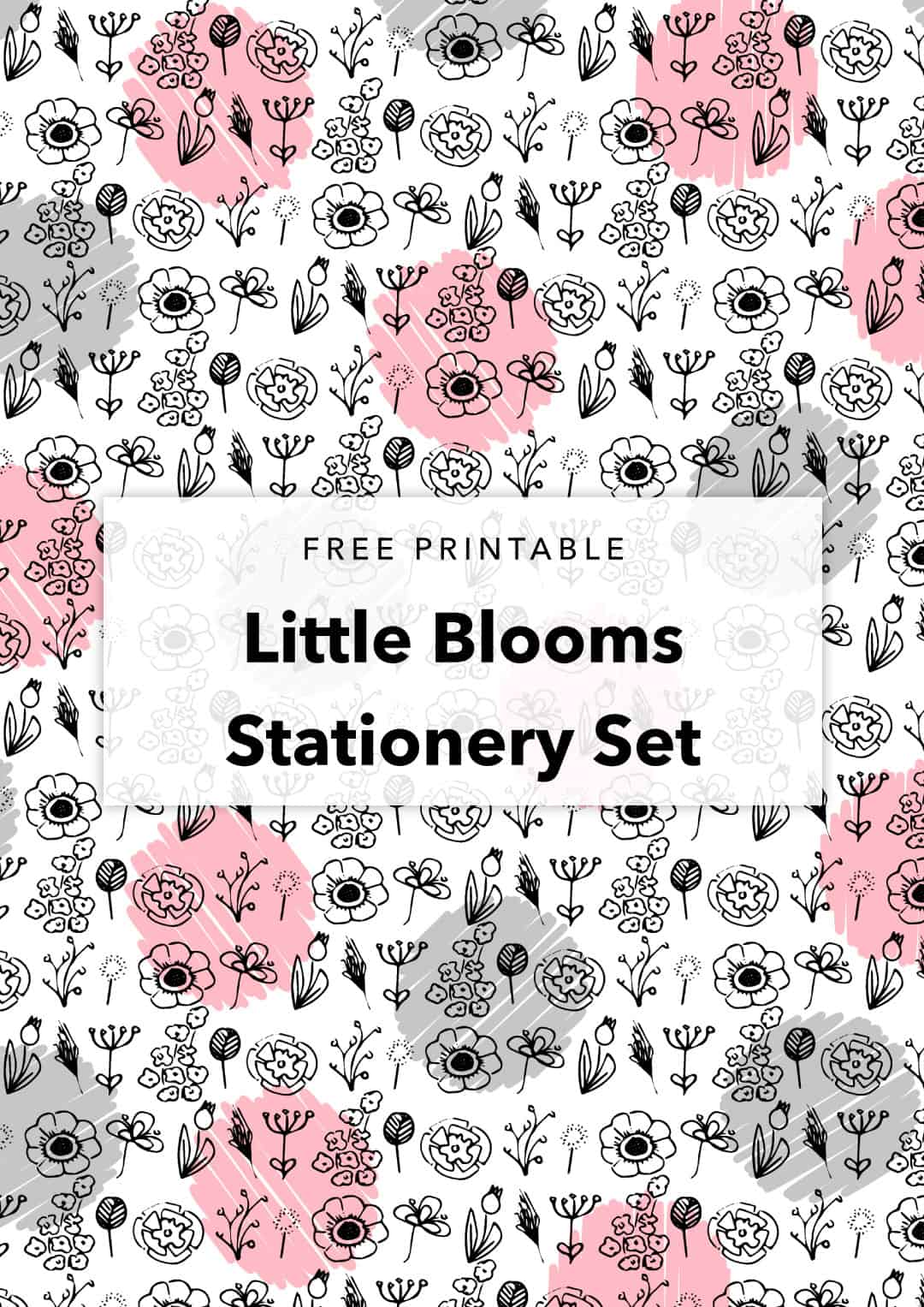 free printable little blooms stationery set