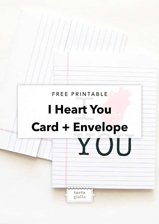 free printable i heart you