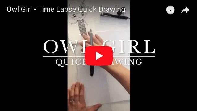 owl girl time lapse