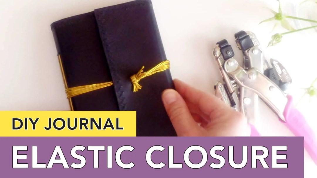 DIY Journal Cover   Wraparound Elastic Closure