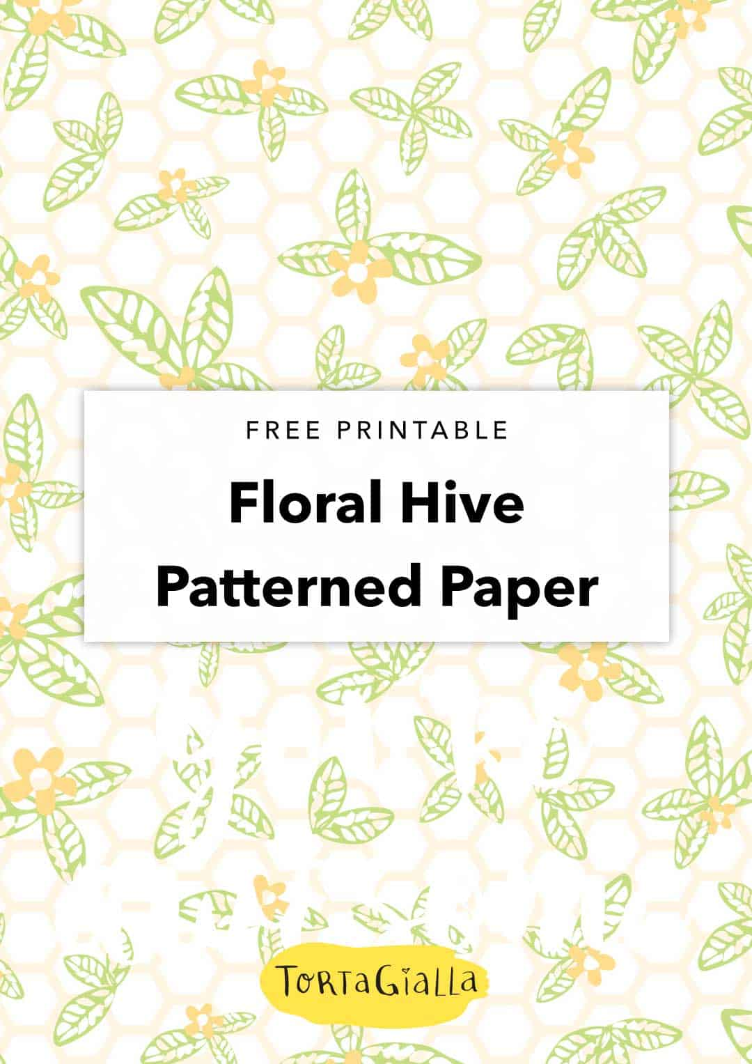 Looking for printable scrapbook paper pdf freebies? Download this happy floral honeycomb paper design for your papercrafting projects for free.