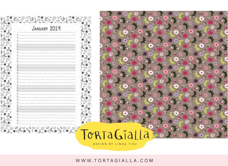 January 2019 Printable Calendar Variations for Patreon supporters - Get these exclusive printables by supporting me on https://www.patreon.com/tortagialla - Get exclusive printables by supporting me there!