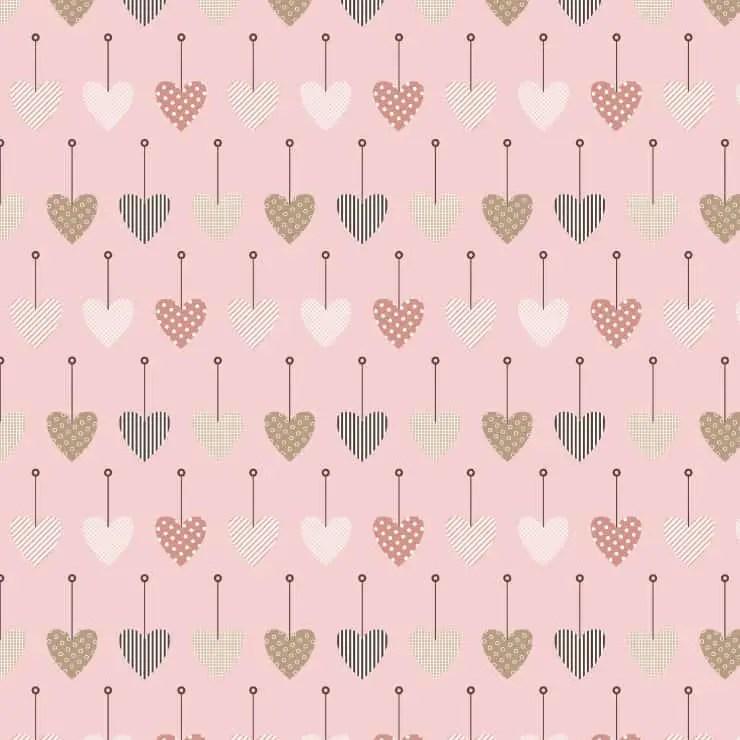 hanging hearts printable