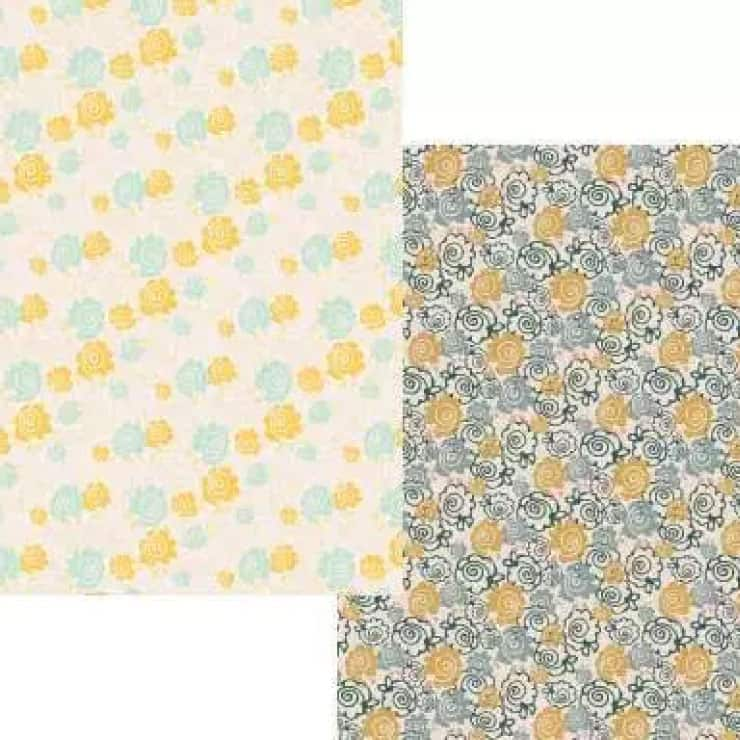happy floral paper printables