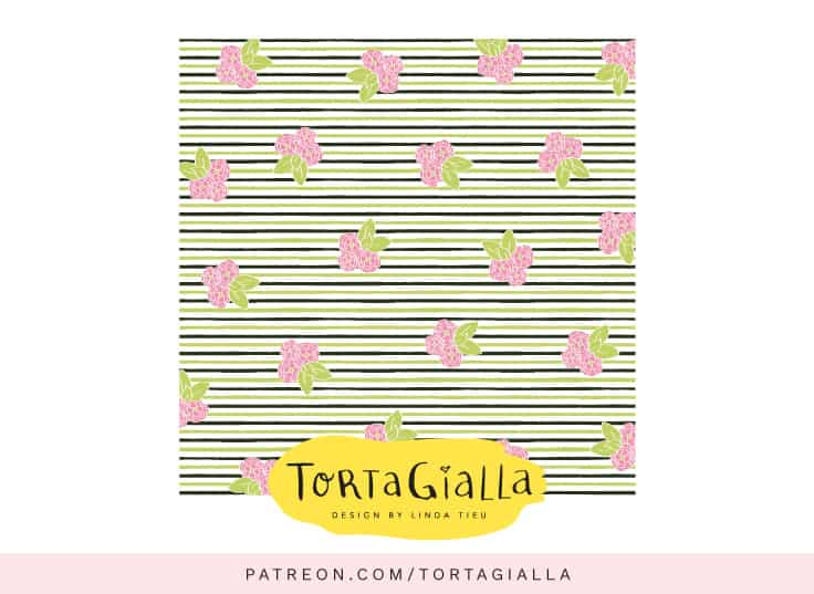 Another variation - Floral Green Paint Stripes Patterned Paper - Download on Patreon.com/tortagialla