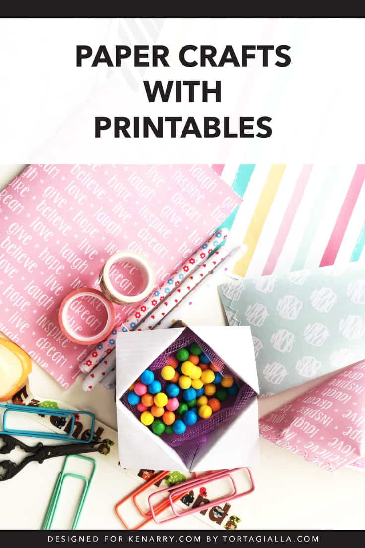 photo about Printable Paper Crafts named Simple Paper Craft Options with Printables tortagialla