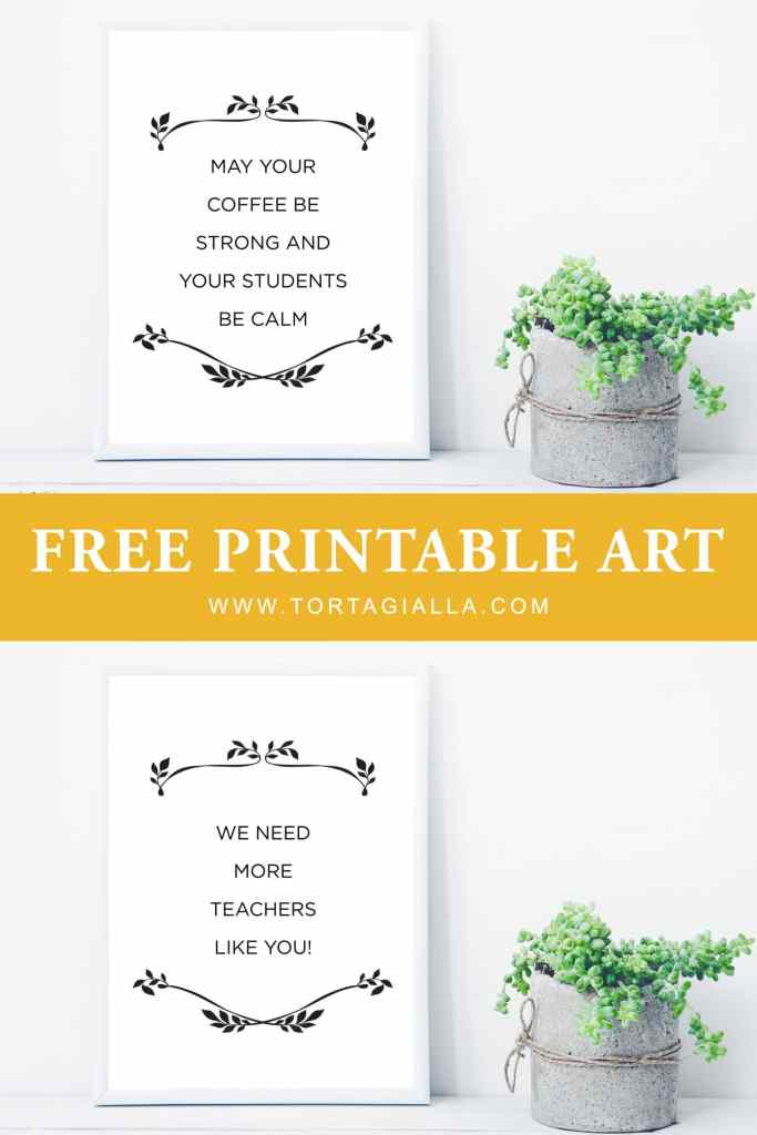 Gift the teachers in your life a coffee gift card or similar treat to say thank you. Use these free teacher appreciation quote printables as a starting point for your DIY gift ideas!
