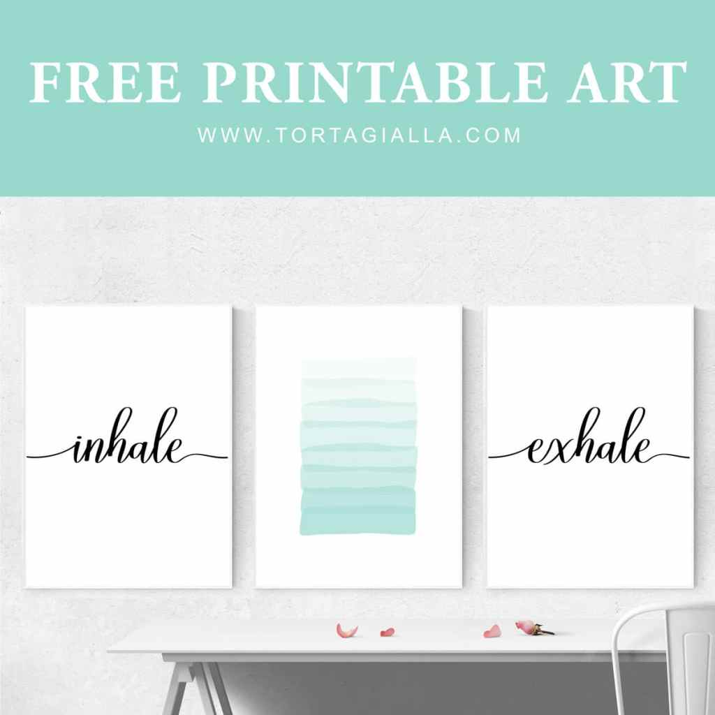 Download this set of 3 printable art prints - exclusive for my email subscibers. Inhale, exhale with abstract aqua brushstrokes, you can transform your space instantly. Create a statement gallery wall that exudes calm and tranquility.