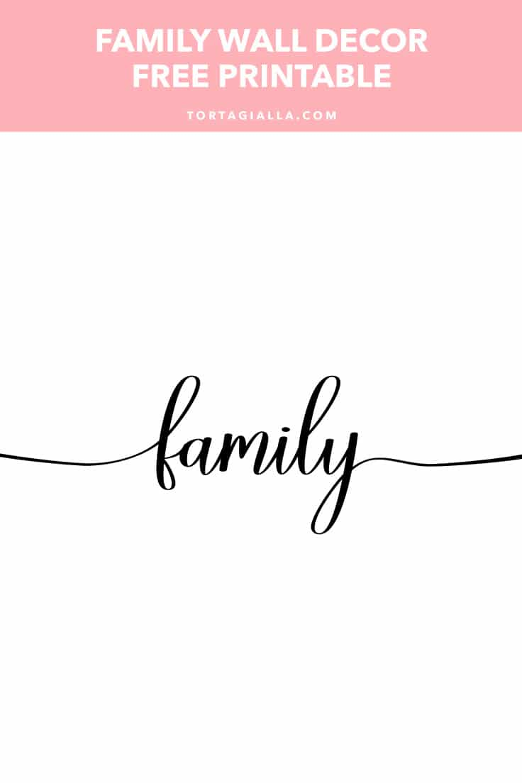photograph about Free Printable Wall Decor called Family members Wall Decor No cost Printable tortagialla