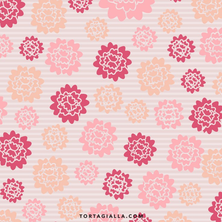 Chic Pink Floral Scrapbook Paper Design - Preview of 12x12' free printable patterned paper download on tortagialla.com