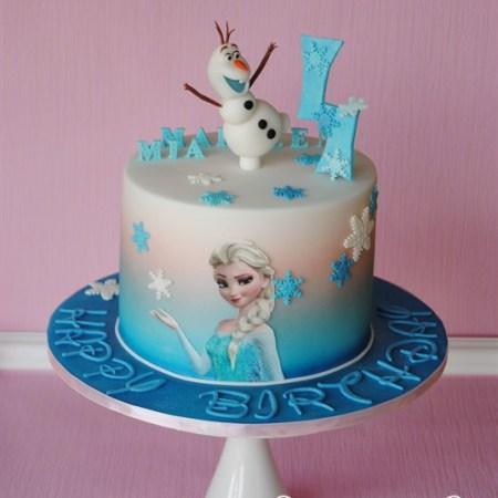 Die Eiskönigin Elsa und Olaf Torte zum Kindergeburtstag
