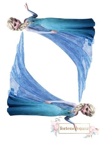 Tortenaufleger Figur Elsa