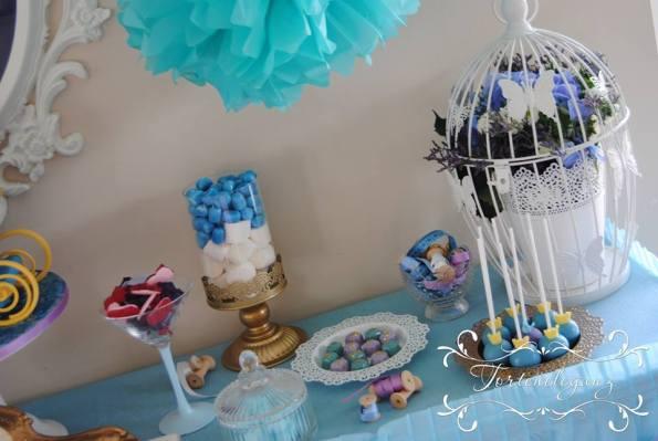 Cinderella Kindergeburtstag 3D Torte Candy und Deko Candy Table süßes