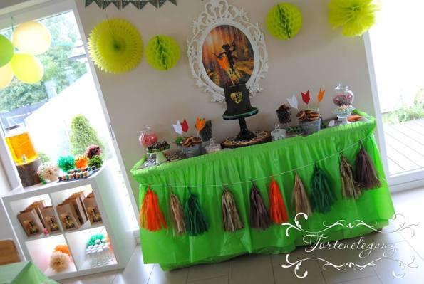 Robin Hood Torte und Candy Table Paul 4 Candy Table schräg