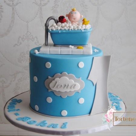 Jona 1 Geburtstag Baby badet im Schaumbad