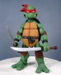 Prototype figurine Leonardo (peint) Neca 2007