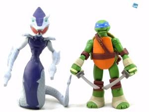 Comparaison Figurine Serpent Karai 2015 et Leonardo 2012