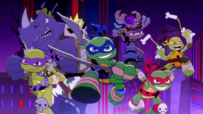 95 Tortues Ninja TMNT Half-Shell Heroes Blast to the past - Tortues Bebop Rocksteady