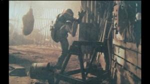 Film Tortues Ninja TMNT 1990 Scène coupée Michaelangelo grange