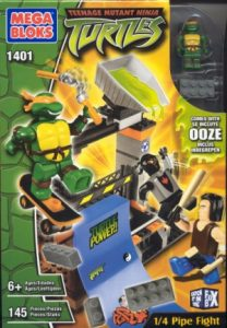 Boîte 1 4 Pipe Fight 2003 Megabloks Tortues Ninja TMNT