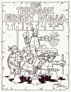 Dessin Kevin Eastman Peter Laird 1983 Tortues Ninja TMNT