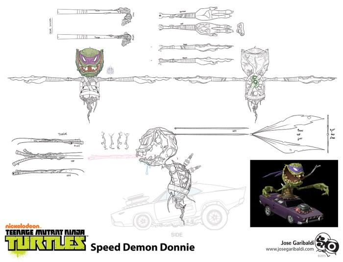 Personnage Speed Demon Donnie Série TV 2012 Concept Art Jose Garibaldi 2 2013