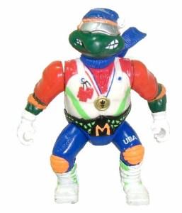 Figurine Hot doggin' Mike 1992 Tortues Ninja Turtles TMNT