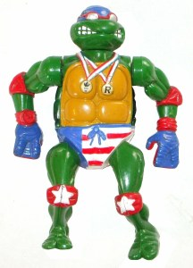 Figurine Super-Swimmin Raph 1992 Tortues Ninja Turtles TMNT