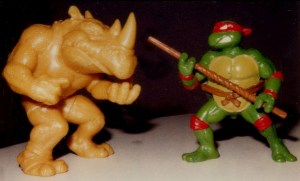 Premiers prototypes Rocksteady Donatello 1987 Tortues Ninja Turtles TMNT