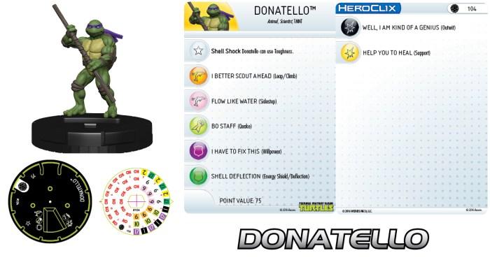 Figurine Mouser Mayhem HeroClix Donatello 2016 Tortues Ninja Turtles TMNT