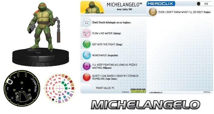 Figurine Mouser Mayhem HeroClix Michelangelo 2016 Tortues Ninja Turtles TMNT