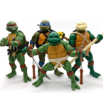 Prototype Michelangelo Donatello TMNT Ultimates Super7 Tortues Ninja Turtles TMNT_1