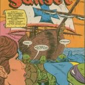 TMNT Meet Archie Comics 2 Red sails in the sunset 3 Bateau pirate Tortues Ninja Turtles TMNT