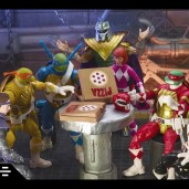 Figurines Lightning Collection Power Rangers Tortues Ninja Tommy Michelangelo April Donatello Leonardo Shredder Hasbro 2021 Tortues Ninja Turtles TMNT_1