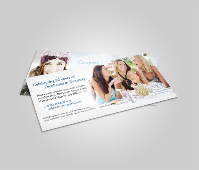 dental voucher coupon design mockup