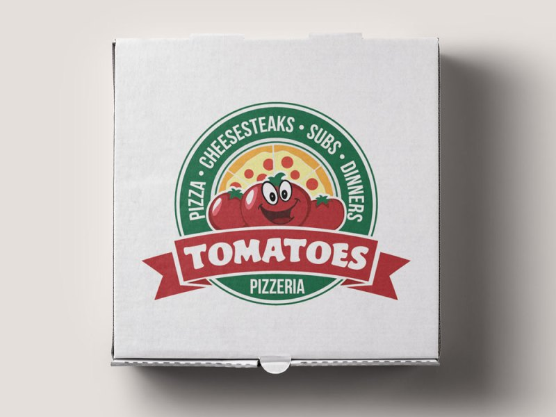 local pizzeria logo for tomatoes pizzeria in lacey nj