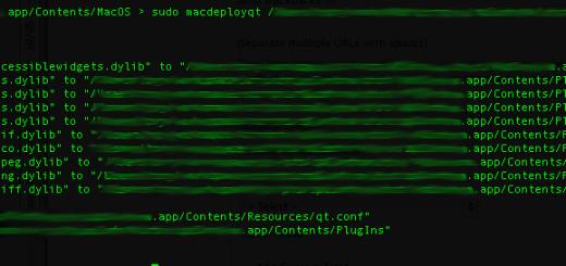 macdeployqt output