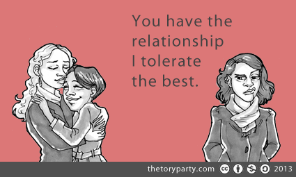 You have the relationship I tolerate the best. - ecard