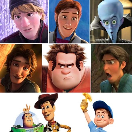 Animated male heroes