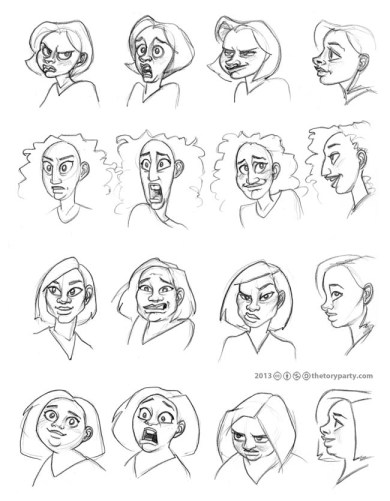 Female Character Expression Concepts