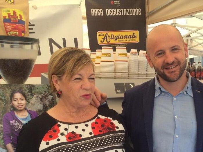 Francesco Sanapo con la mamma Gianna Razzino