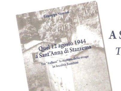 Locandina di presentazione Quel 12 agosto 1944 a Sant'Anna di Stazzema 19 gennaio Pietrasanta