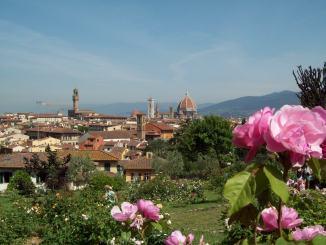 Una vista del Giardino della Rose a Firenze dove si terrà la serata inaugurale di Toscana Arcobaleno d'Estate