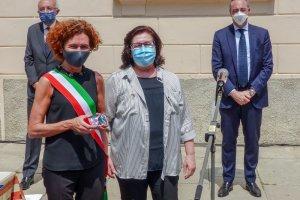 Il sindaco di Crema con Irma Dioli presidente dell'associazione Italia-Cuba