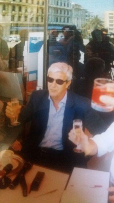 Marcello Lippi festeggia a Viareggio il primo scudetto sulla panchina della Juventus